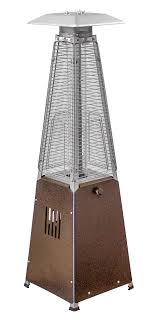 view az patio heaters tall propane heater tabletop quartz glass tube heater hammered bronze finish