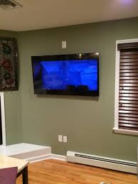 Hide Tv In Wall 55 Vizio Smart Tv On A Tilt Mount In Wall Hidden Wires Outlet