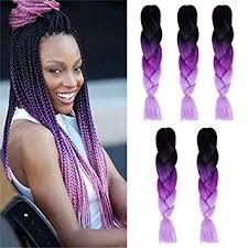 Kanekalon Ombre Braiding hair synthetic Crochet ... - Amazon.com
