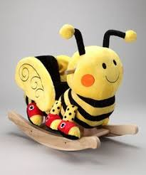 wooden rocking horses rockabye daily deals for moms babies and kids half price todau at zulily baby nursery cool bee animal rocking horse