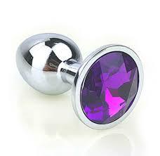 """Купить !<b>Плаг</b> Mini """"Anal Jewelry"""" металлический с фиолетовым ..."""
