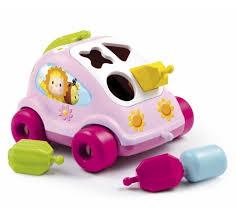 Машинка <b>каталка сортер Smoby</b> Cotoons, розовый купить в ...