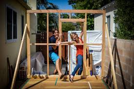 this couple quit their jobs and built a home what they did next they attended a tiny house building workshop in seattle and set to work building their small home on wheels by using their savings to build their home