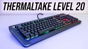 <b>Thermaltake Level 20 RGB</b> Keyboard Review - YouTube