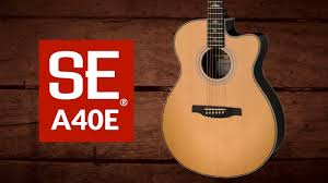 PRS SE Angelus <b>A40E Acoustic</b>/Electric - Natural   Sweetwater