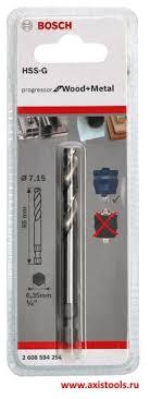 Купить <b>центрирующее сверло</b> HSS-G 7.15х85 мм 6-ти гранным ...