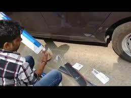 Tata Tiago bumper <b>protector</b> & body side <b>moulding</b> installation ...