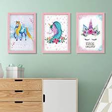 Nidoul Unicorn Canvas Wall Art Painting Set|Cartoon ... - Amazon.com