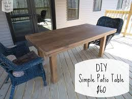 wood patio table plans diy wooden
