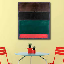 Green and Maroon by <b>Mark Rothko</b> Classical <b>Still Life</b> Oil Painting ...