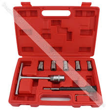 <b>7pcs Diesel Injector</b> Seat <b>Cutter</b> Set Cleaner Carbon Remover Car ...
