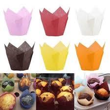 <b>50pcs</b> Paper <b>Cake</b> Cup <b>Cupcake</b> Muffin Liner Case Baking Cup ...