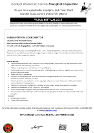 apply to become the yabun festival coordinator koori radio click this link to view the job description and submission guidelines