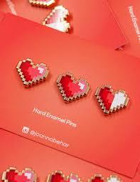 Pixel heart pins   Брошь-<b>значок</b>, <b>Значки</b>, Брошь