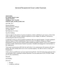 example of application letter for receptionist position cover example of application letter for receptionist position cover