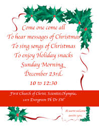 news activities first church of christ scientist olympia christmas church service carol sing invitation