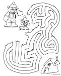 Раскраски лабиринты детей