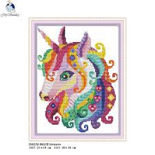 <b>Joy Sunday</b> The Unicorn Cross stitch kits, <b>DIY</b> Handmade Cross ...