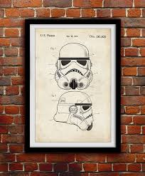 star wars stormtrooper toy helmet decor patent print poster wall decor 0110 brave business office decorating ideas awesome