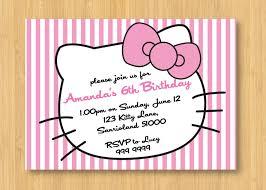 hello kitty printable birthday party invitation 🔎zoom