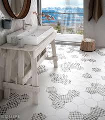 hex tiles for bathroom floors