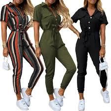 <b>80</b>% <b>HOT SALES</b>!!!Office Lady Short Sleeve V Neck Stripes ...