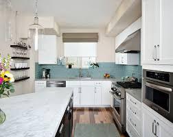 classic backsplash white kitchen