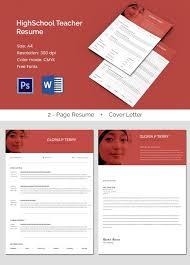 a4 size high school teacher resume cv template teacher resume samples free