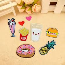 <b>8Pcs</b> Cute Cartoon Fruit Embroidered Applique Iron On Sew On ...