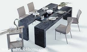 latest dining tables: latest black gray dining table design