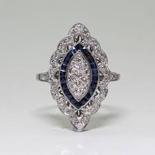 Bamos <b>Cute Female Blue</b> Finger Ring Big Luxury CZ Stone Ring ...