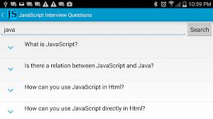 javascript interview questions android apps on google play javascript interview questions screenshot