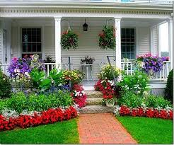 Image result for front porch flowers