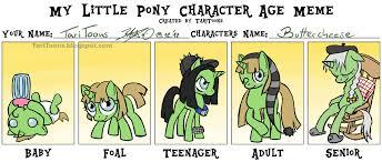 My little Pony Character Age Meme by TariToons on DeviantArt via Relatably.com