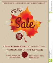fall leaf flyer template stock vector image  fall leaf flyer template