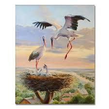 <b>WEEN Crane</b> Picture By Numbers Animal <b>Oil</b> Painting Horse ...