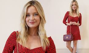 Laura Whitmore shows off her lithe legs in red <b>leopard print summer</b> ...