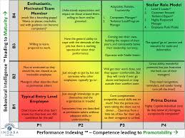 assess your companies employees performance and behavior p1b1 matrix large