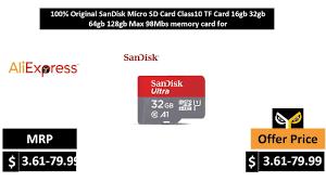 <b>100</b>% <b>Original SanDisk Micro</b> SD Card Class10 TF Card 16gb 32gb ...
