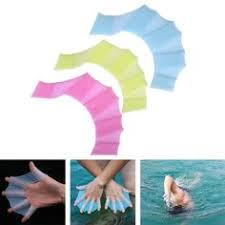 <b>Summer Swim Gloves Flippers</b> Silicone Palm Swimming Fins Diving ...