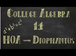 detail for origins of algebra  welcome to the first history of algebra my name is jack jenkins and this is academy of one today we are talking about the history and life of diophantus
