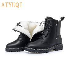 <b>AIYUQI Women's</b> Winter <b>shoe</b> Boots 2021 New Genuine Leather ...