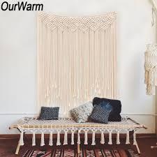 <b>OurWarm</b> Macrame Curtain Handmade Tapestry <b>DIY</b> Photo...