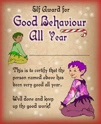 christmas archives rooftop post printables printable certificate from the elves saying well done for being good all year