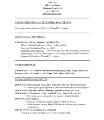 cv example for psychologist clinical psychologist resume sample resume writing psychology resume samples