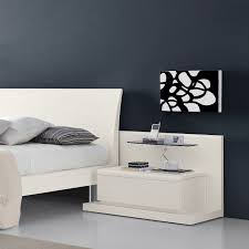 interior extraordinary white bed idea and trendy white side table design idea combined heavenly glass bed side furniture