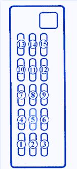 mazda 626 ge 2 5 1993 fuse box block circuit breaker diagram mazda 626 ge 2 5 1993 fuse box block circuit breaker diagram