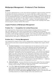 multi project management problems their solutions whitepaper