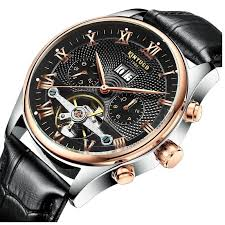 <b>KINYUED Mens Watch Automatic Mechanical</b> Business <b>Watches</b> ...