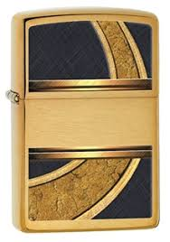 <b>Зажигалка ZIPPO Gold &</b> Black, латунь с покрытием Brushed ...